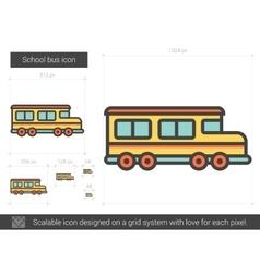 School bus line icon vector