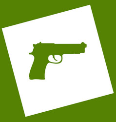 Gun sign   white icon obtained vector