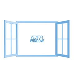 blue window template vector image