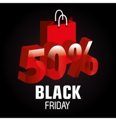 Shopping black friday day discounts vector
