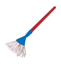 Plastic broom cartoon vector