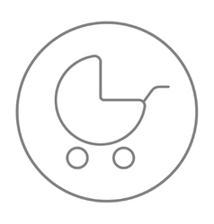 Baby stroller line icon vector