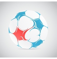 Creative football vector image