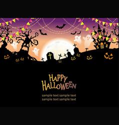 a seamless halloween landscape vector image