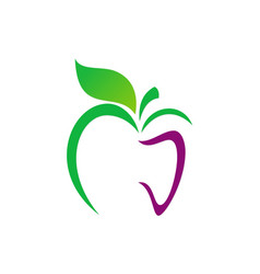 Apple abstract organic food logo vector
