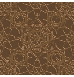 Background with seamless pattern in Islamic style vector image