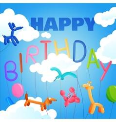 Birthday postcard template vector image vector image