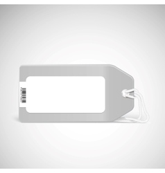 Blank price tag isolated on white vector