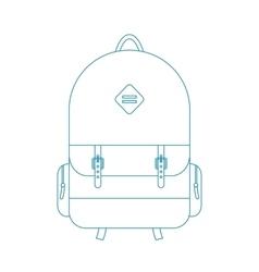 blue outline backpack vector image
