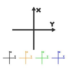 Cartesian axes icon vector