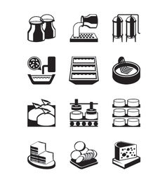 Cheese production process vector image