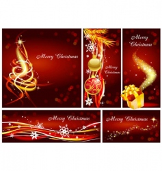 christmas tamplets vector image vector image