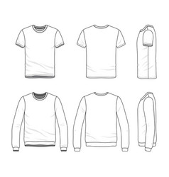 clothing set of male shirt and sweatshirt vector image vector image