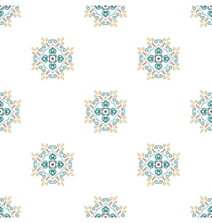 Floral pattern blue brown curve elements vector