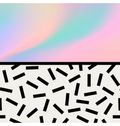 Geometric trendy 80s retro card vector image