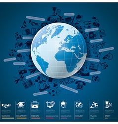 Global index infographic with icon set chart vector