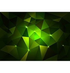 Green Triangles Dark vector image vector image