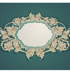 green vintage background vector image vector image