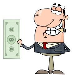 happy businessman dollar vector image vector image