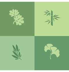 Leaf - Set of design elements vector image