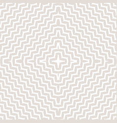 Ornament pattern zigzag lines in square form vector