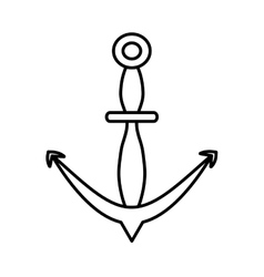 outline anchor marine nautical sign vector image