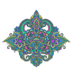 Pattern of henna floral elements vector