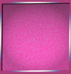pattern with curls on pink background vector image vector image
