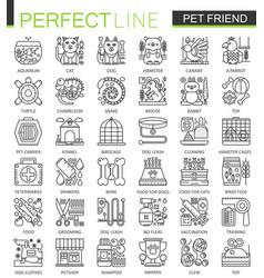 pet friend outline concept symbols perfect pet vector image vector image