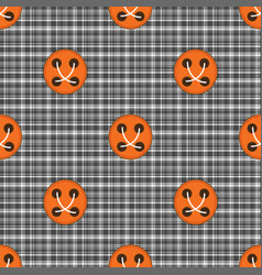 plaid material button seamless pattern vector image vector image