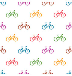 Seamless pattern with colorful bikes vector