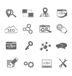 Seo marketing icons set vector