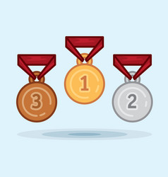 Set medal winner award vector