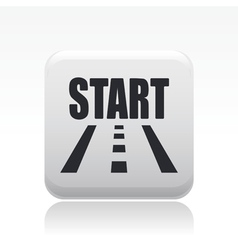 start road icon vector image vector image