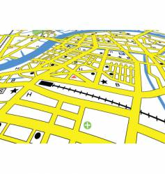 street map vector image