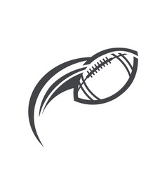 swoosh american football logo icon vector image vector image