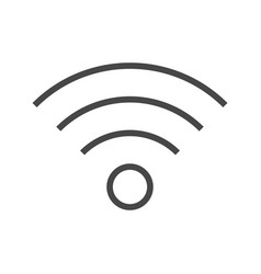 Wi fi thin line icon vector