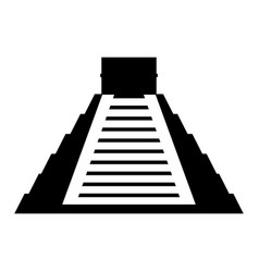 mayan pyramid isolated icon vector image