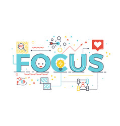 Focus word for business concept vector