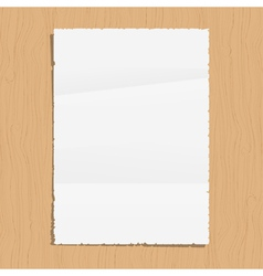 Empty paper sheet vector