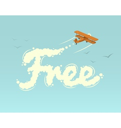 Biplane with word free vector