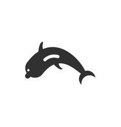 animals on stylish background dolphin vector image