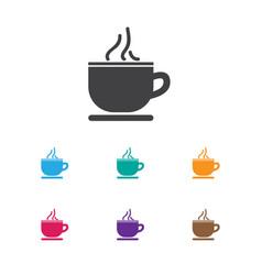 Of journey symbol on tea cup vector