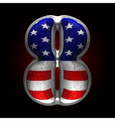 American metal figure 8 vector