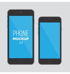 phone mockup v1 vector image