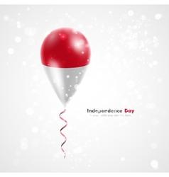Flag of indonesia on balloon vector