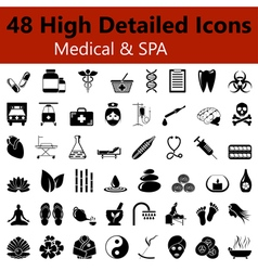 Medical and spa smooth icons vector