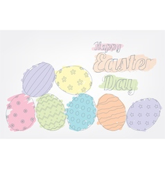 Easter eggs outline vector image