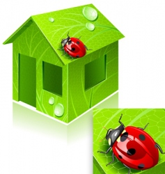 Eco-house vector