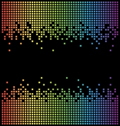 Rainbow pixel background and black copy space vector image